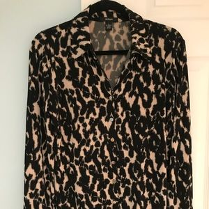 Alfani Animal Print Blouse